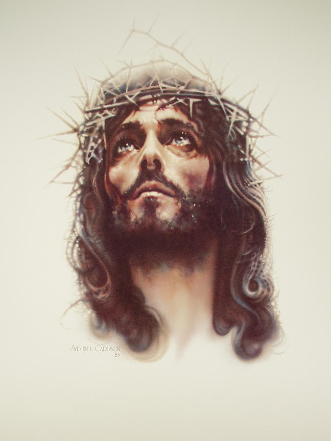 Jesus Painting - By His Wounds by Steven Paul Carlson