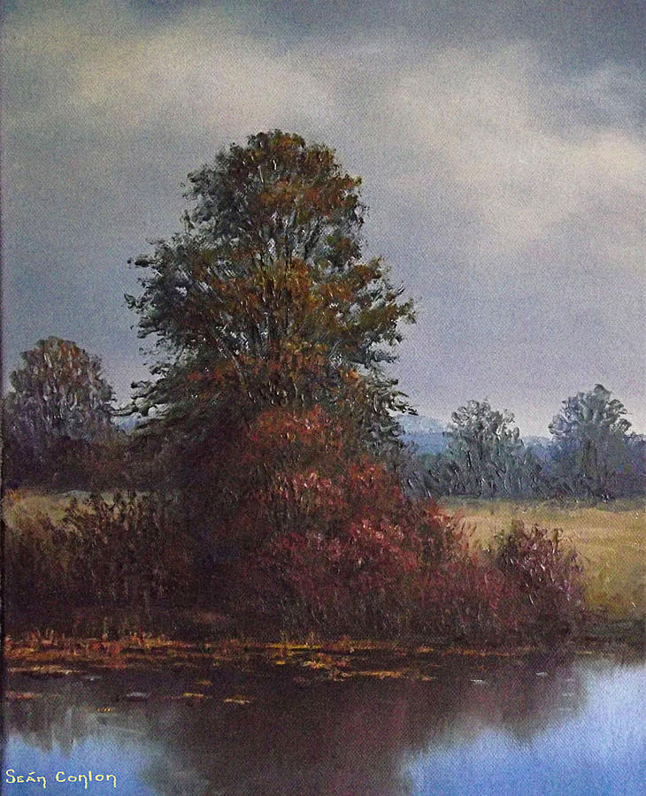 Landscape Painting - By The River by Sean Conlon