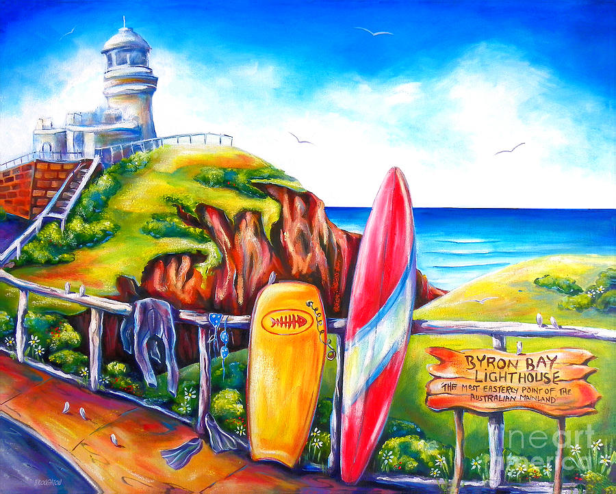 Byron Bay Lighthouse Painting