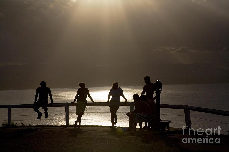 Byron Bay Lighthouse Silhouette Sunset Rays Photograph - Byron Bay Lighthouse by Avalon Fine Art Photography
