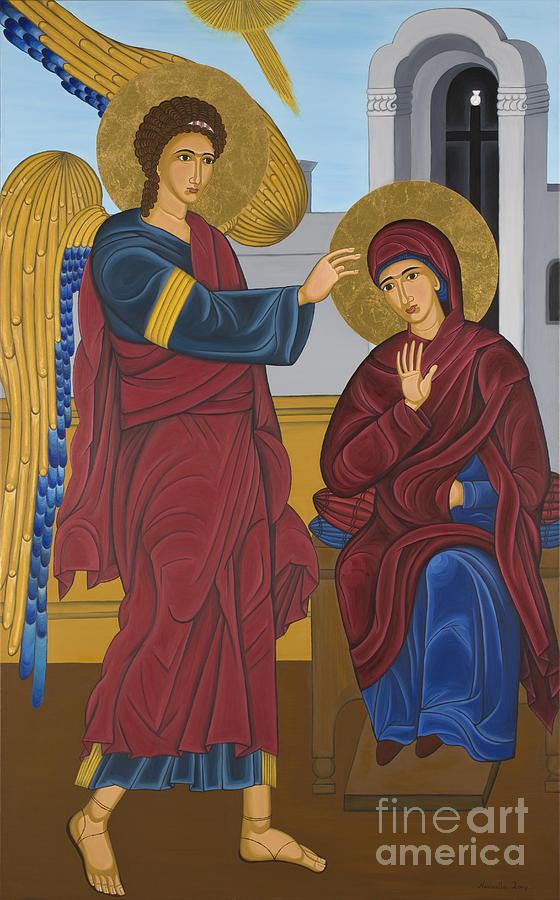 Contemporary Byzantine Art Painting - Byzantine Art Evagelismos  by Marinella Owens