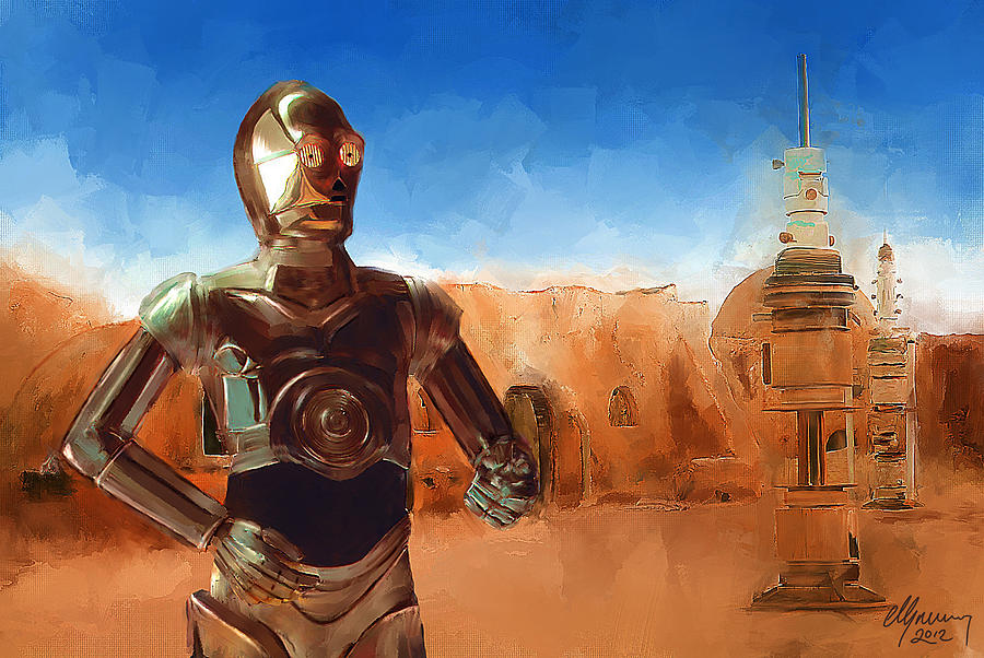 C3po Star Wars Painting C3po Painting