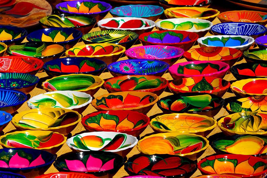 Cabo San Lucas. Colorful Plates. Fine Art Photo Photograph - Cabo Art by Craig Incardone