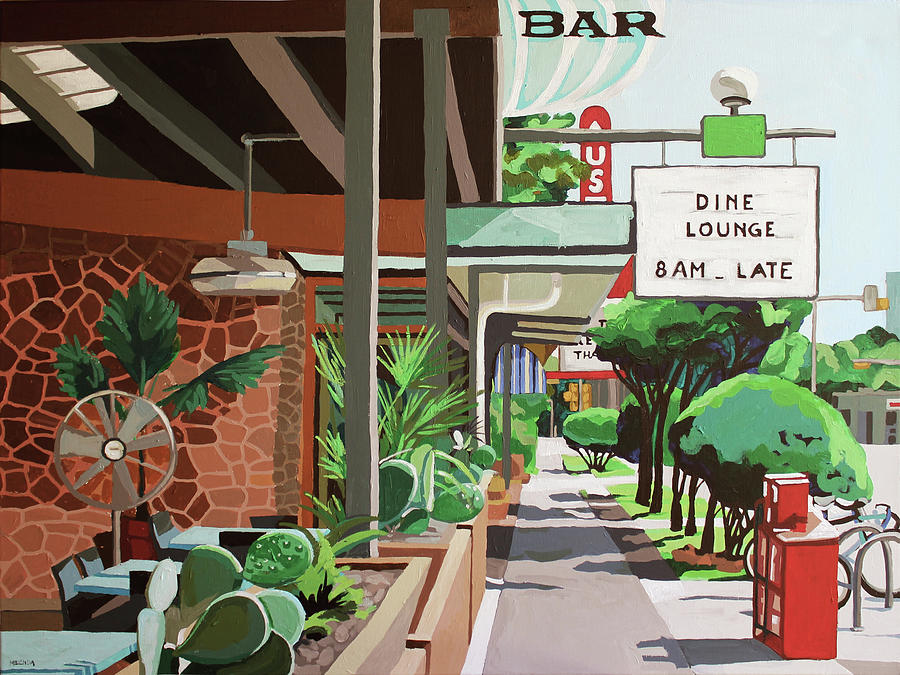Cactus Cafe Painting