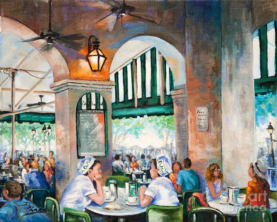 New Orleans Art Painting - Cafe Girls by Dianne Parks