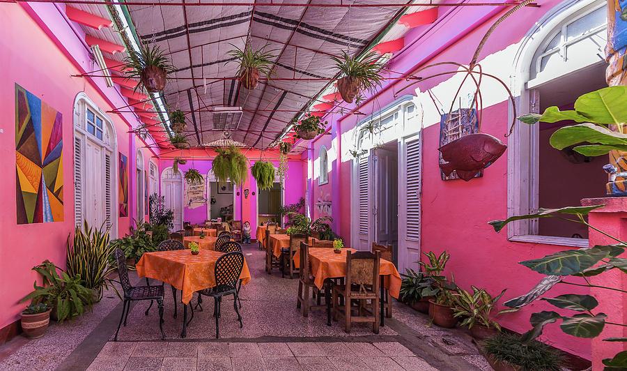 Cafe In Santiago De Cuba Photograph