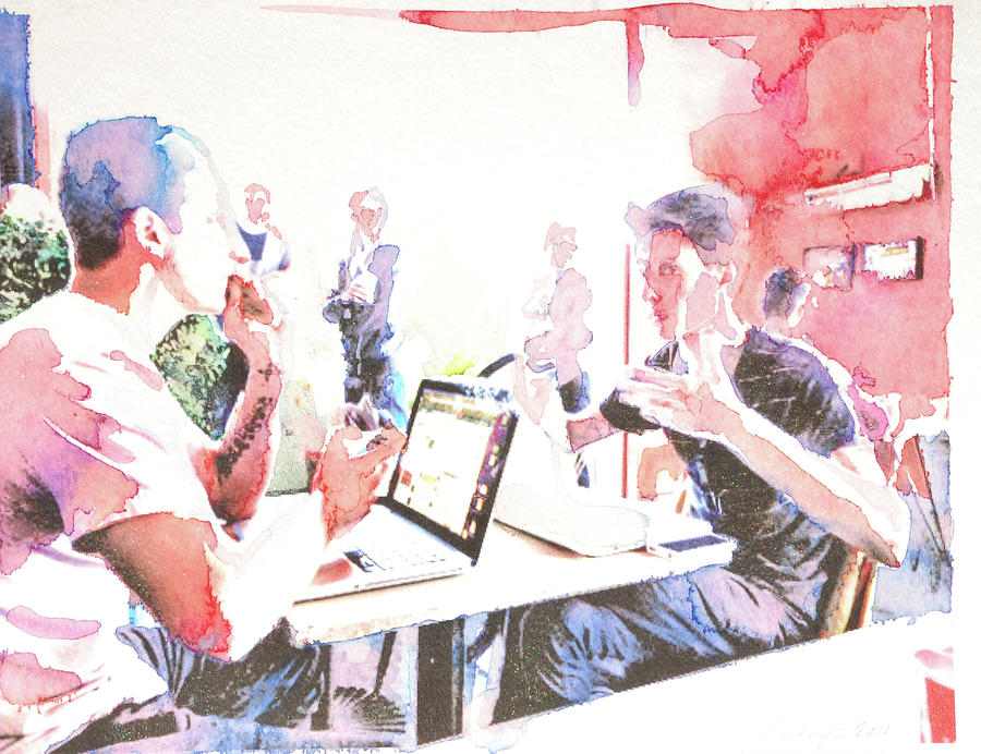 Digital Digital Art - Cafe Intelligentsia 2 by Amy Bernays