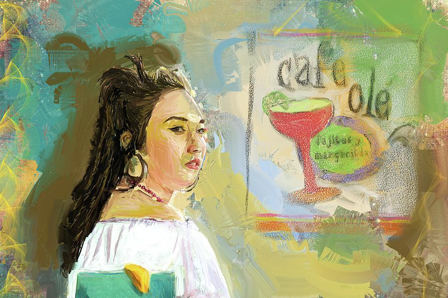 Cafe Ole Girl Digital Art