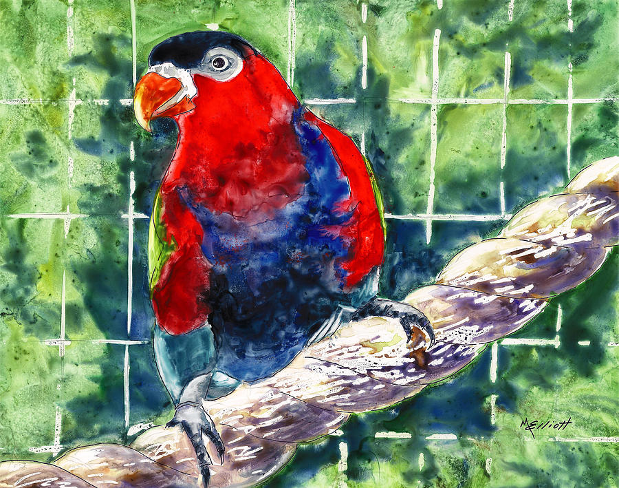 Tropical Painting - Caged by Marsha Elliott