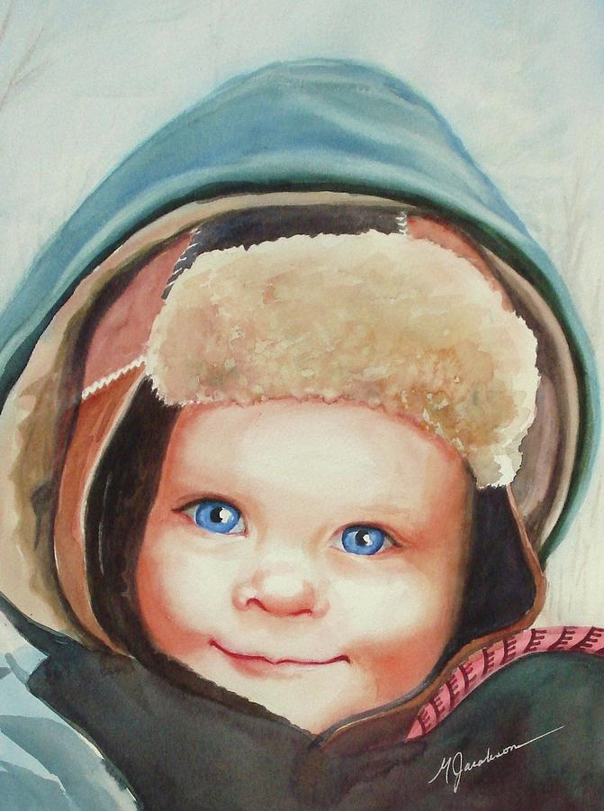 Young Boy Painting - Caleb by Marilyn Jacobson