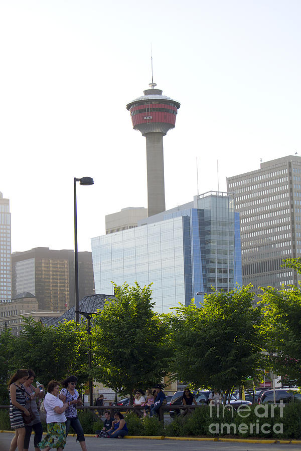 Portrait Photograph - Calgary Tower View 2 by Donna Munro
