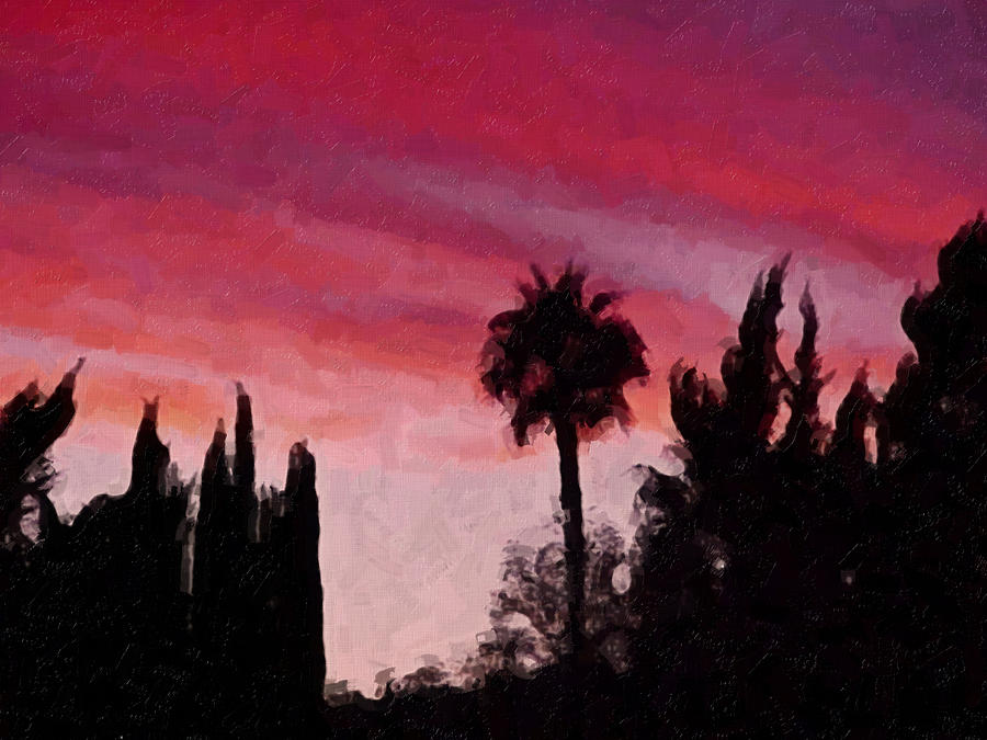 California Painting - California Sunset Painting 1 by Teresa Mucha