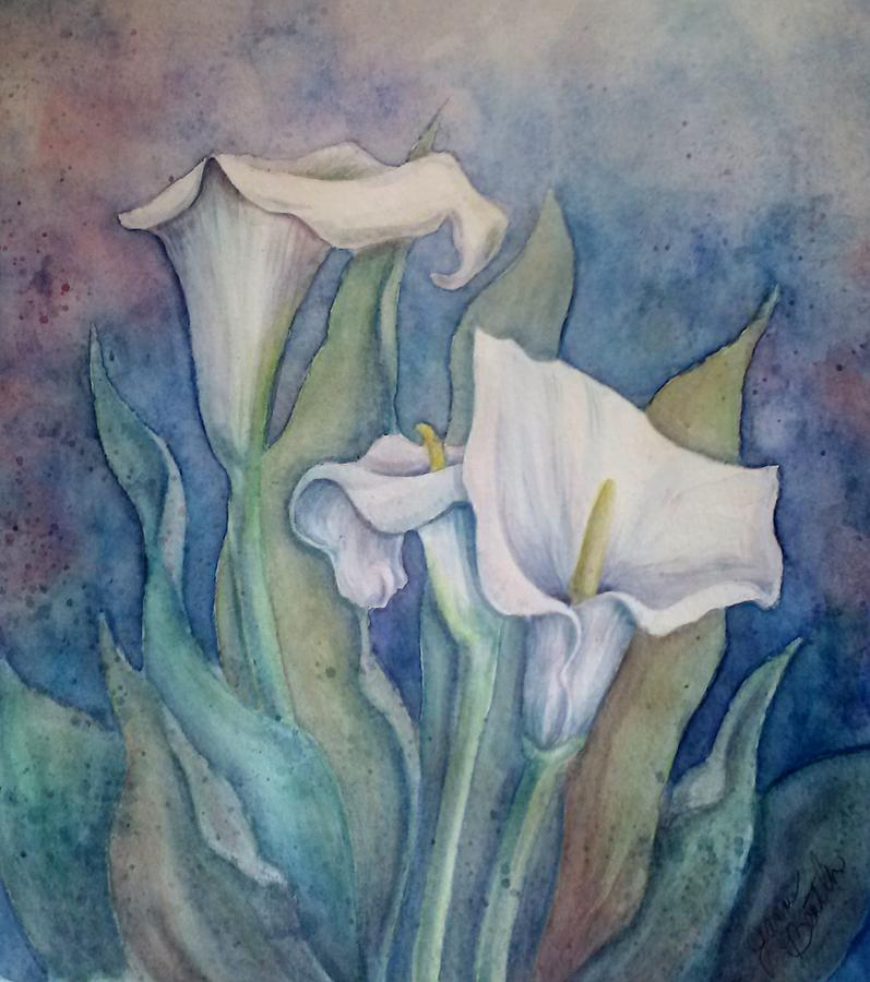 Calla Lily Painting by Jeanne Beutler