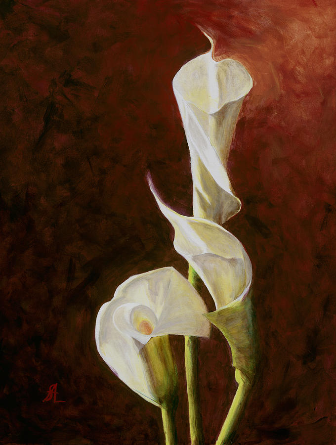 Calla Lily No. 4 Painting by Steven Logan