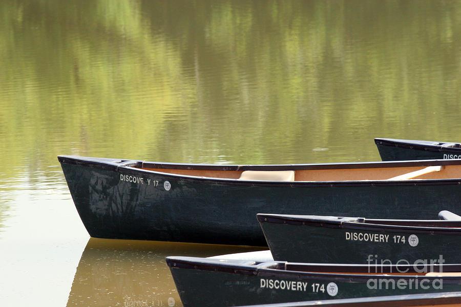 Canoe Photograph - Calm Morning by Jeannie Burleson