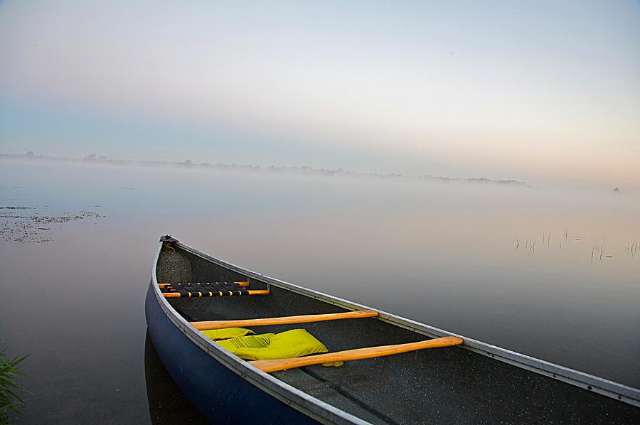 Canoe Photograph - Calm by Theo Tan
