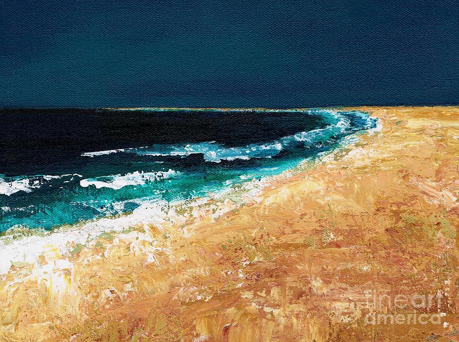 Ocean Tide Painting - Calming Waters by Frances Marino