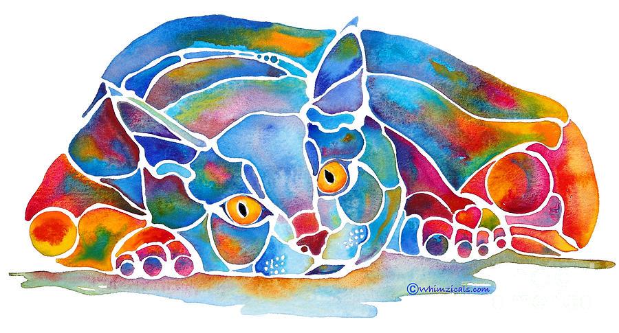 Cat Painting - Calypso Cat by Jo Lynch