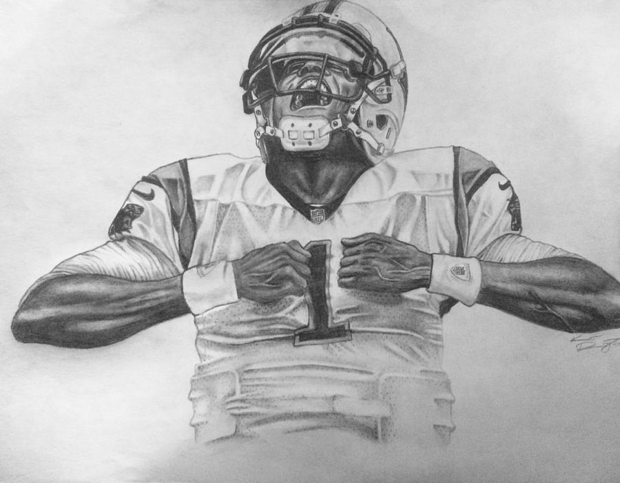 Cam Newton Superman Drawing By Kevin Riganti