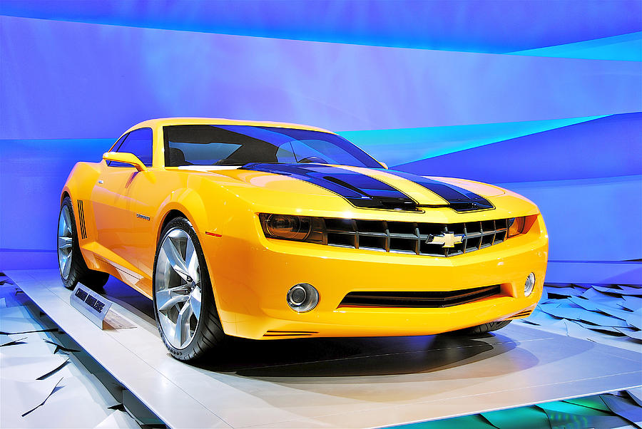 Yellow Photograph - Camaro Bumble Bee 0993 by Michael Peychich