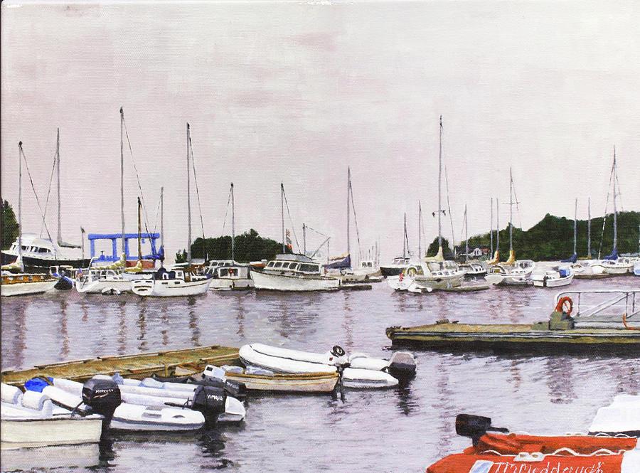 Camden Painting - Camden Maine Marina by Thomas Michael Meddaugh