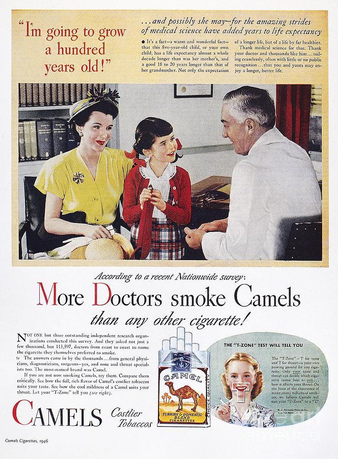 Camel Cigarette Ad, 1946 Photograph