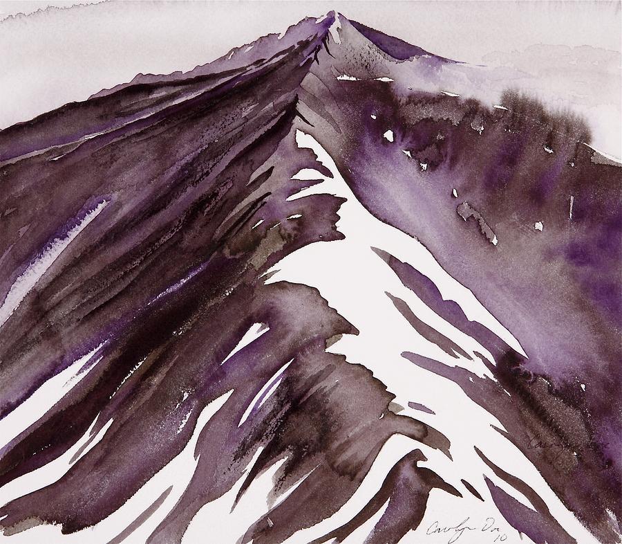 Mountains Painting - Camp Creek Ridge by Carolyn Doe