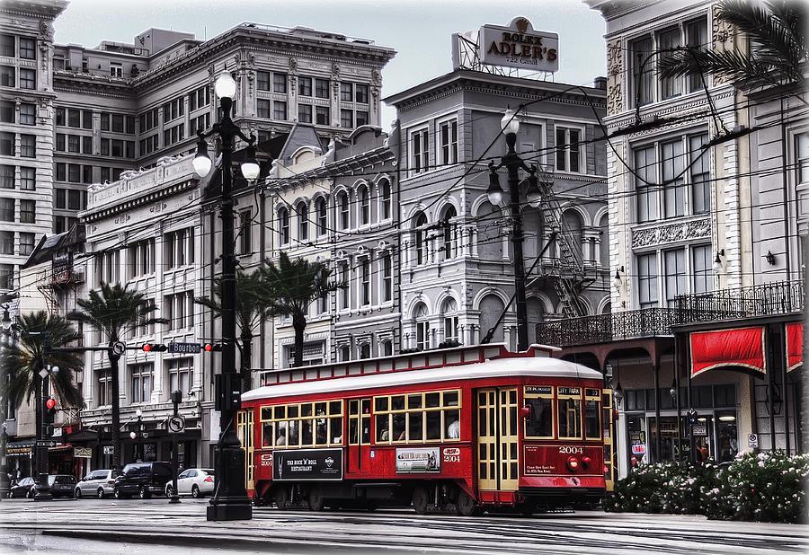 Nola Photograph - Canal Street Trolley by Tammy Wetzel