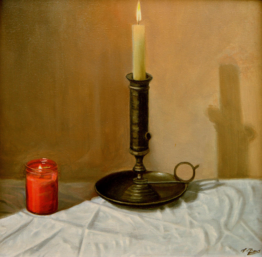 Candle still life by tony banos for Candle painting medium