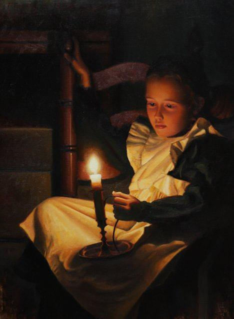 Candlesticks Painting Oil