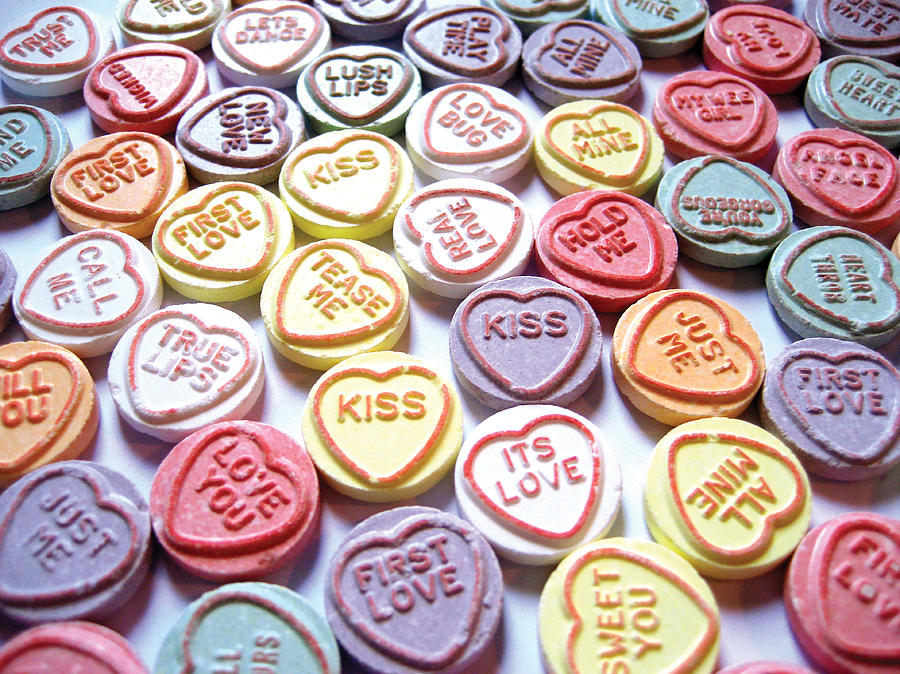 Love Hearts Photograph - Candy Love Photography by Michael Tompsett