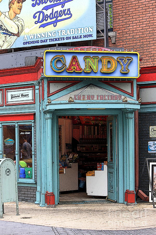 Candy Store Photograph - Candy Store Cartoon by Sophie Vigneault