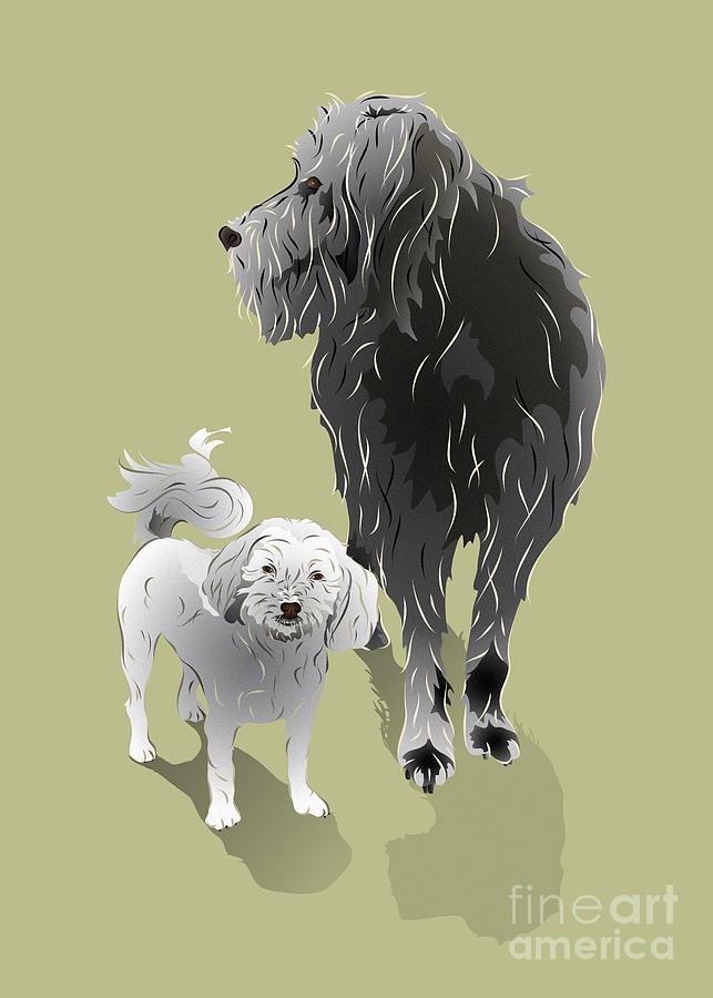 Dog Digital Art - Canine Friendship by MM Anderson