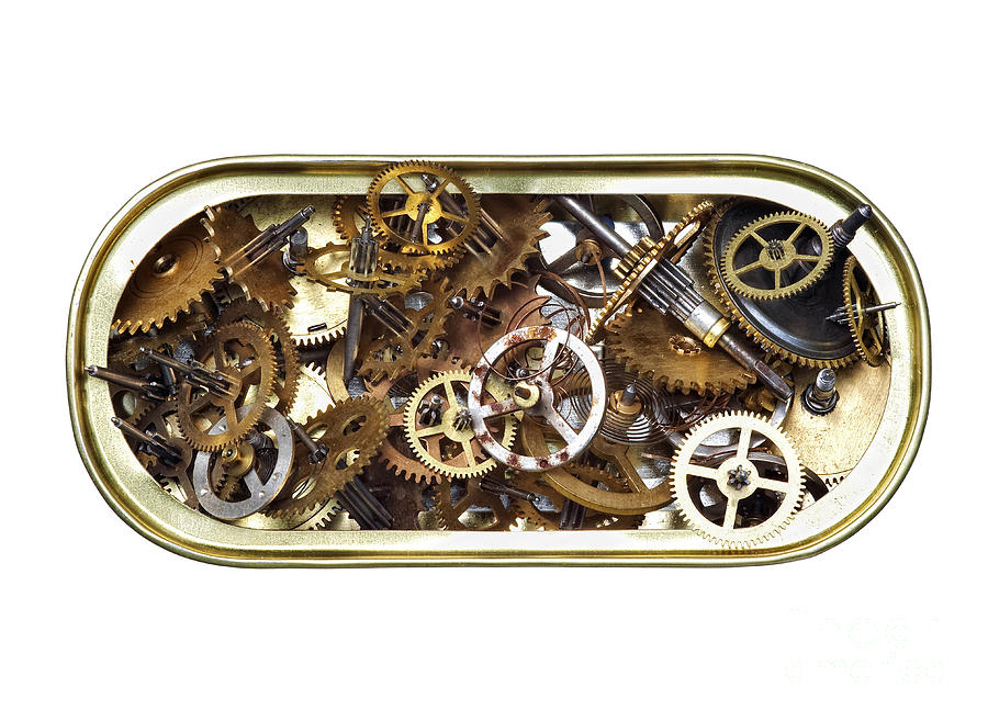 Clockwork Photograph - Canned Time by Michal Boubin