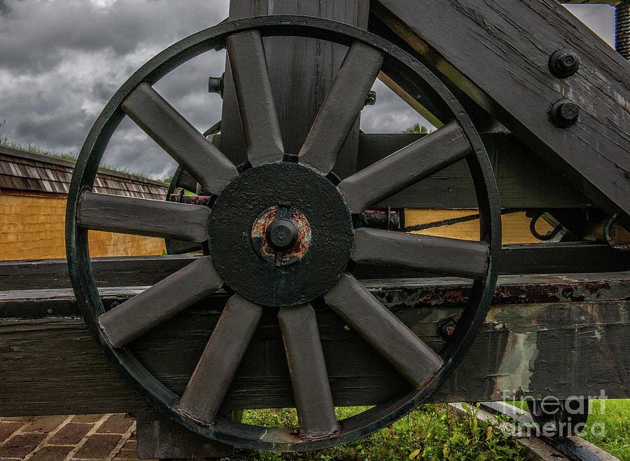 Cannon Wheel Photograph