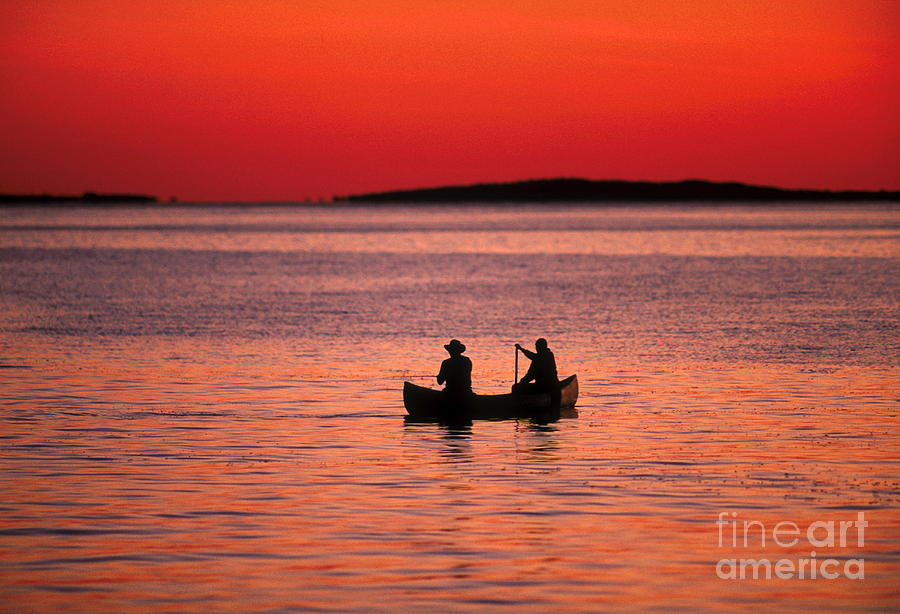 Canoe Photograph - Canoe Fishing by John Greim