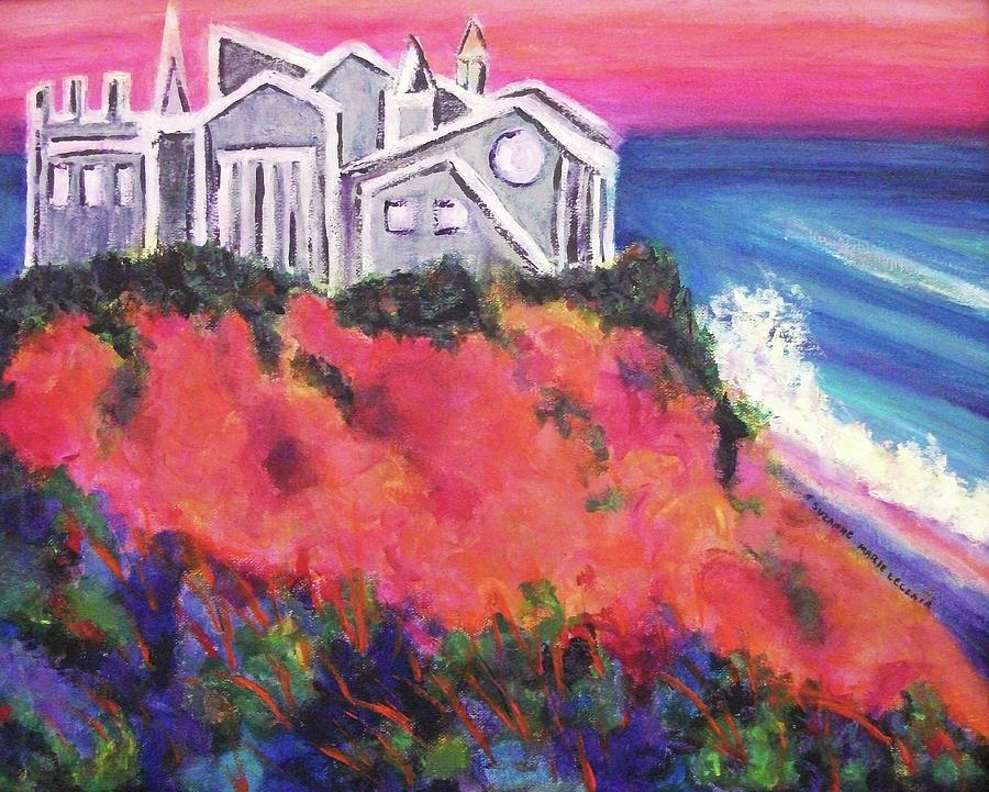 Castle Painting - Cape Cod Castle by Suzanne  Marie Leclair