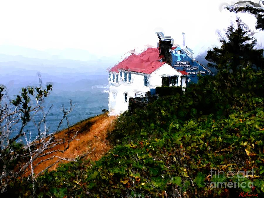 Cape Foulweather Painting - Cape Foulweather by Methune Hively