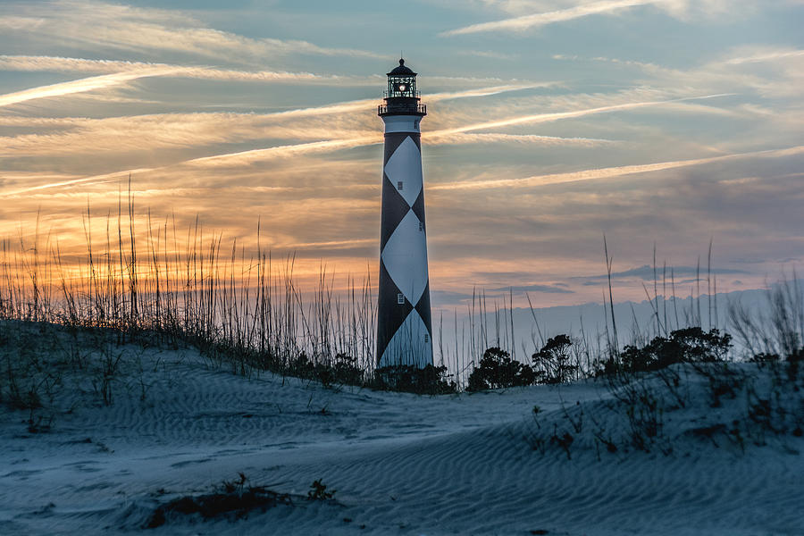 Cape Lookout Lighthouse At Sunset Photograph By WAZgriffin