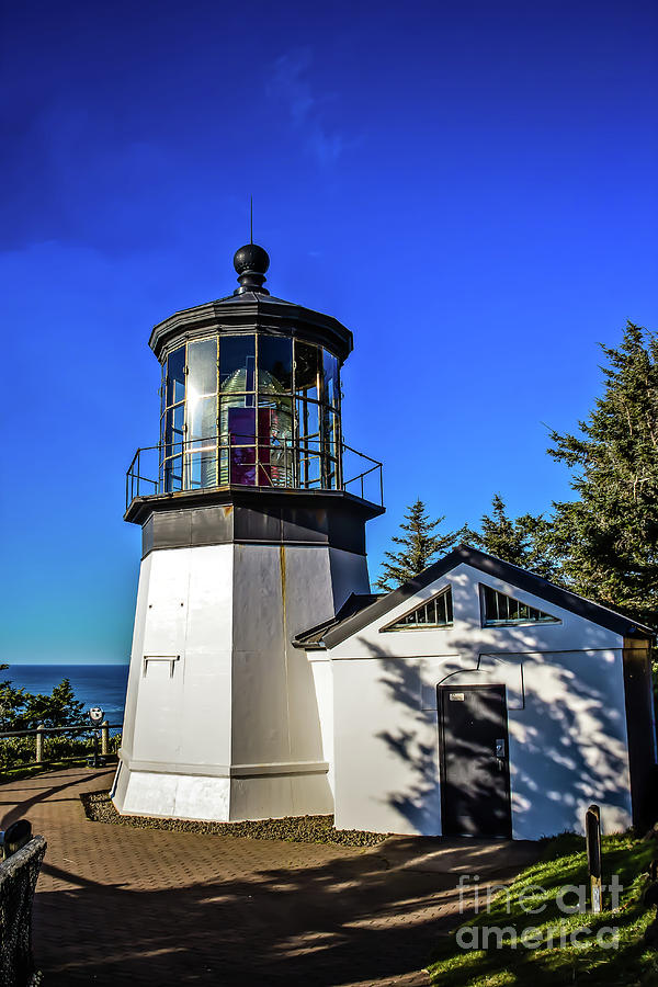 Cape Meares Lighthouse Photograph - Cape Meares Lighthouse by Jon Burch Photography