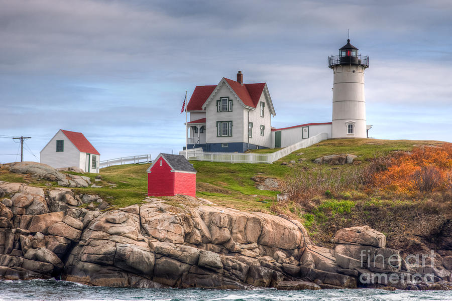 America Photograph - Cape Neddick Nubble Lighthouse I by Clarence Holmes