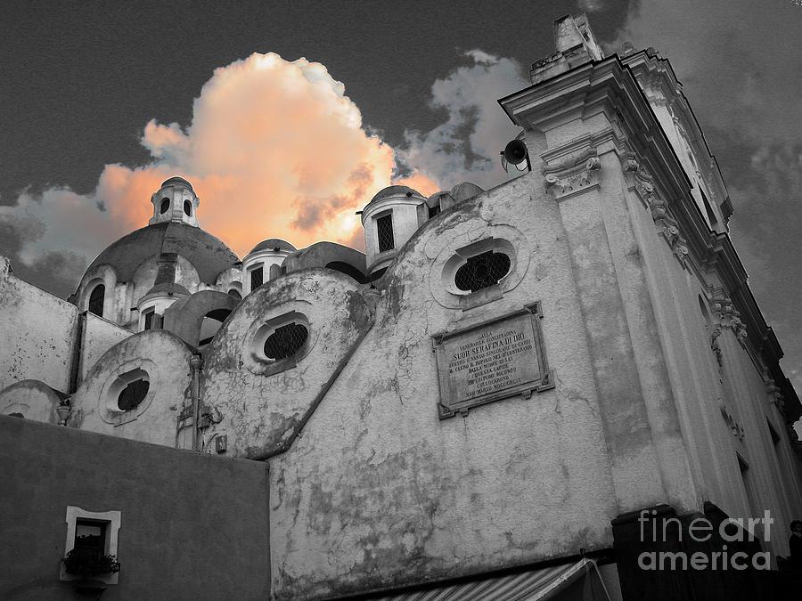 Church Photograph - Capri Church by Jim Wright