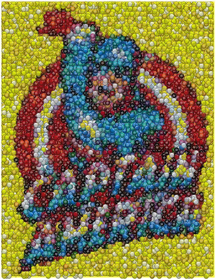 Superhero Mixed Media - Captain America Mm Mosaic by Paul Van Scott