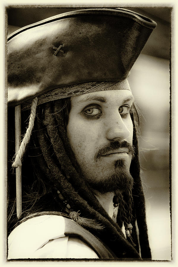 Pirate Photograph - Captain Jack Sparrow by David Patterson