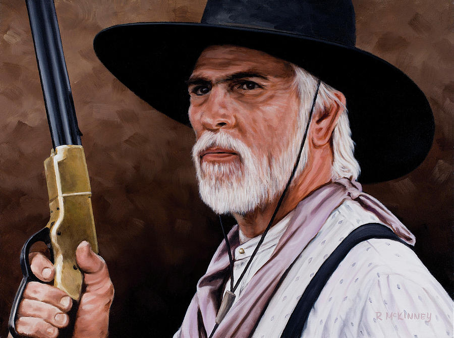 Lonesome Dove Painting - Captain Woodrow F Call by Rick McKinney