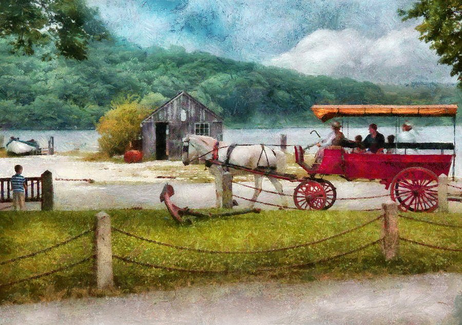 Hdr Photograph - Car - Wagon - Traveling In Style by Mike Savad