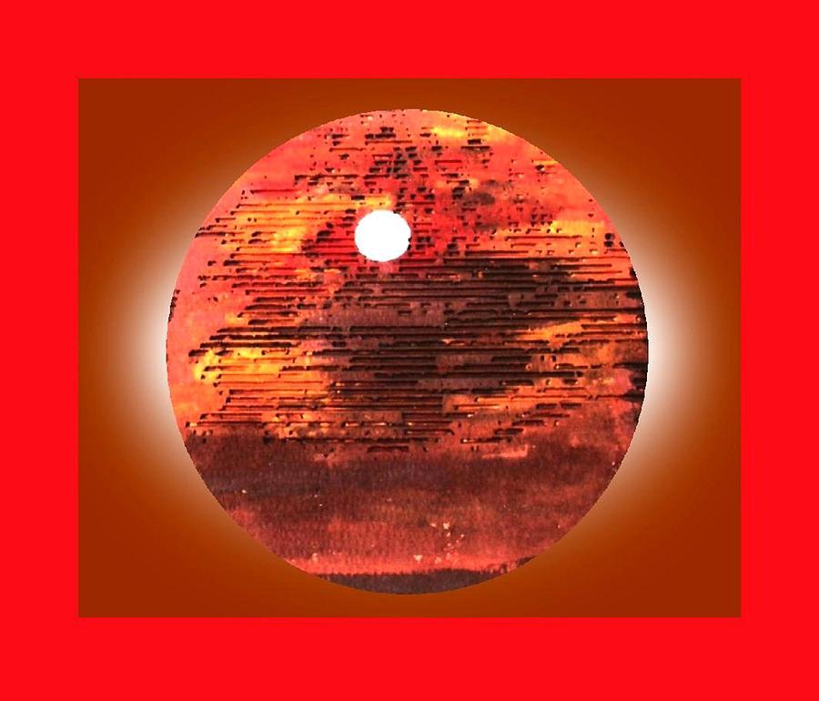 Cardboard Sunset Painting