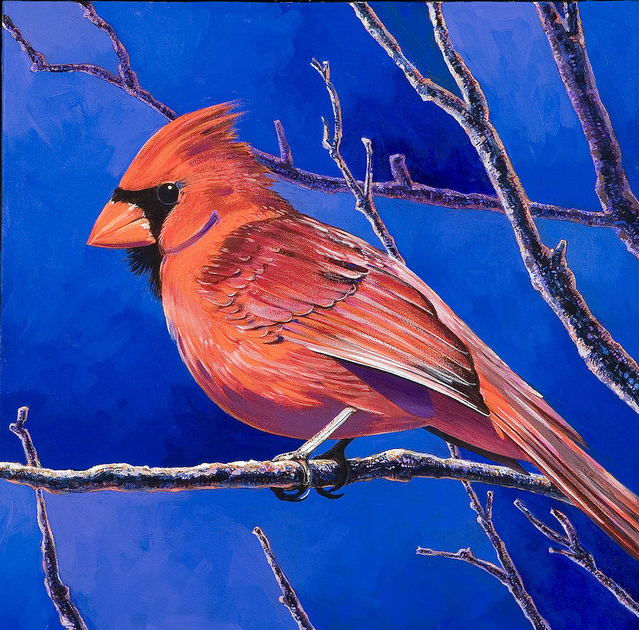 Imaginary Realism Painting - Cardinal by Bob Coonts