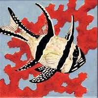Fish Painting - Cardinal Fish On 8 Inch Tile by Dy Witt