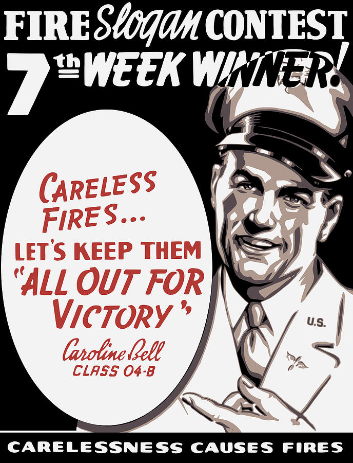 Wwii Painting - Carelessness Causes Fires by War Is Hell Store